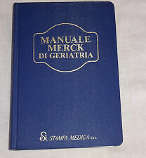 MEDICINA-MANUALE MERCK DI GERIATRIA-ANNO 1990-PRIMA STAMPA