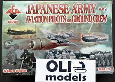 1/72 WW2 Japanese Army Aviation Pilots & Ground Crew FIGURES SET Red Box 72052