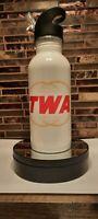 TWA airline vintage logo drinking water bottle  Airplane pilot flight Aviation