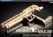 Academy Desert Eagle 50 GOLD Hand Grips 20mm /ABS Airsoft Pistol BB Gun 6mm
