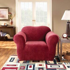 1 Seater Surefit Stretch Pearson | Couch Lounge Sofa Cover | Slipcover | Red