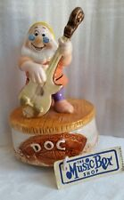 "Vintage Schmid Music Carousel Disney Snow White's ""Doc"" Plays ""High Ho"" Has Tag"