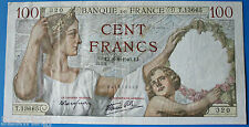 BILLET FRANCAIS DE 100 FRANCS-1940-TB-QUELQUES TR.D'EPINGLE