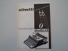 advertising Pubblicità 1938 OLIVETTI STUDIO 42
