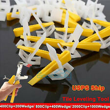600-6000 Reusable Tile Leveling System Clips Wedges Wall Floor Spacers + Plier