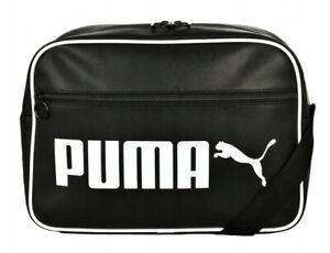 PUMA Campus Reporter Retro Cross Bag Black Casual School Bag NWT 076642-01