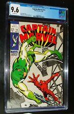 CAPTAIN MARVEL #13 1969 Marvel Comics CGC 9.6 NM+ STAN LEE