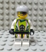 LEGO World Racers Dare Devil 2 Minifigure with Gray Helmet