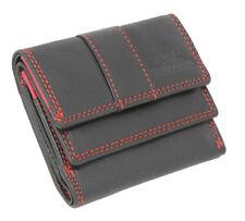 Leder Minibörse Geldbörse Geldbeutel Taschenbörse Damen Herren RFID-Schutz klein