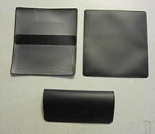 1 NEW BLACK VINYL CHECKBOOK COVER WITH DUPLICATE FLAP CHECK BOOK COVERS