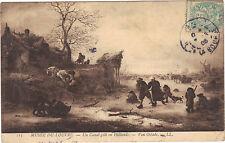 Art cartolina Un canal congelati in Olanda da FURGONE OSTADE Museo della Louvre