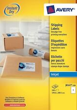 Avery white plain address labels 100 Sheet Packs J8167-100