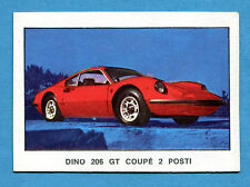 AUTO 1970 ? - Figurina-Sticker - DINO 206 GT COUPE 2 POSTI