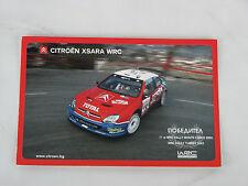 Citroen Xsara WRC Champion Rally 2003 postale postcard used rare Total