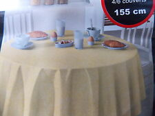 ROUND YELLOW EASY CLEAN VINYL Tablecloth TABLE CLOTH PATTERNED 155cm ROUND
