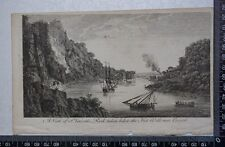 1776 - Engraving of View of St Vincent's Rock, Hot Wells, Bristo