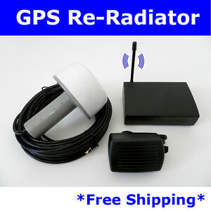 54dB GPS Antenna Amplifier Receiver Repeater BA-50 Full kit 10m+10m Cable