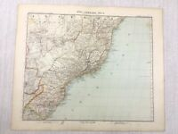 1907 Antik Map Of Südamerika Brazil Minas Gerais Rio Gotha Justus Perthes