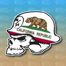 "Metal Mulisha California State Flag Bear 5"" Custom Vinyl Decal Sticker JDM"