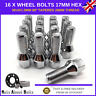 16 x Alloy Wheel Bolts M14x1.5 Nuts For Audi A6 With After-market Alloys