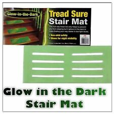 5 x NEW TREAD SURE NON SLIP STAIR MAT GLOW IN THE DARK STEPS STAIRS SEE IN DARK
