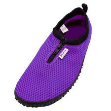 Womens Water Shoes Aqua Socks Zip Up Slip On Flexible Pool Beach Swim Surf Yoga