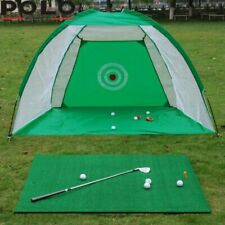 Indoor Outdoor Foldable Gold Practice Training Net Golf Hitting Cage Sport + Bag