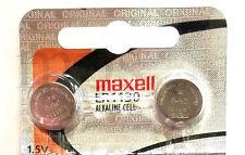 LR1130 Maxell 189 (2 piece) 389 LR54 SR1130SW AG10 New Alkaline Battery