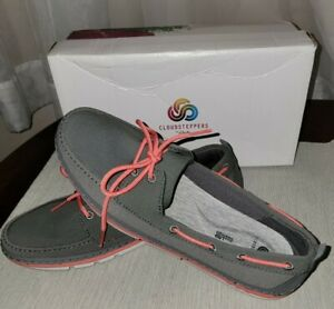 Clarks Womens Step Maro Dark Grey Textile Boat Shoes Size 9.5 RETAIL PRICE 85.00