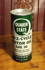 Vintage Quaker State HD 2 Cycle Motor Oil Metal Can 1 Pint NOS Unopened SAE-30