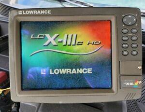 Lowrance Marine LCX-111C HD GPS Fishfinder Sonar Radar Chartplotter Bundle