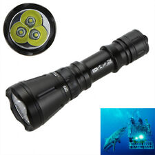 Underwater 60M 3*CREE XML T6 5000LM LED 26650 Diving Flashlight Torch IPX8 Lamp