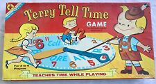 Vintage Terry Tell Time Game  Transogram