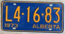Vintage Alberta L4-16-83, 73 Plate, CANADA License Plate ~ Man Cave, Garage