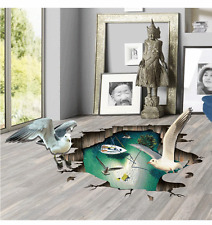 Cool 3D Seagull floor Wall Sticker Removable Vinyl Art home decal DIY for gift
