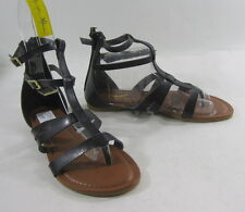 Summer Blacks ankle straps NEW WOMEN FASHION roman Gladiator SANDALS  SIZE  7.5