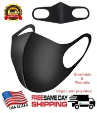 Black Men Women Unisex Face Masks Cloth Cover Mask Reusable Washable Fashion USA