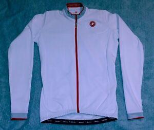 CASTELLI 2012 White Red Scorpion Cycling Jersey Full Zip Long Sleeve Men's Sz L