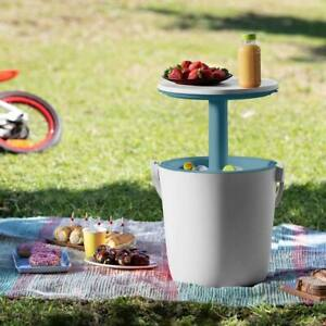 Keter Portable Bar Cooler Picnic Side Table Insulated Cool Box Drinks Bucket