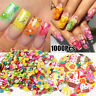 Tiny Cute Star/Cartoon/Flower/Fruit/Feather Fimo Slices Slicing Nail 3D Decals