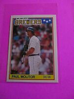 1988 Topps TIFFANY, UK American Baseball Mini,  MINT Paul Molitor #49 Rare!