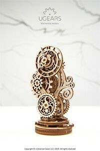 Ugears Steampunk Clock 3D puzzle Mechanical Model Kit building Wooden Assembly