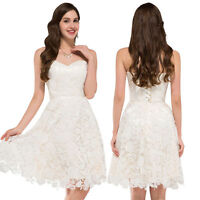 LACE Short Mini Formal Evening Prom Party Dresses Bridesmaid Ball Gown Cocktail