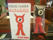 "Von Murr Freak Family Sataniki 9"" Designer Vinyl Toy Art MIB BLACK HEAD RED BODY"
