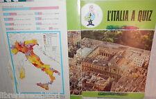 VECCHIO QUADERNO SCOLASTICO L ITALIA A QUIZ LECCE PUGLIA SALENTO DI SCUOLA E
