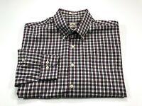 Peter Millar L Men's Multi-Color Check Cotton Long Sleeve Button Down Shirt