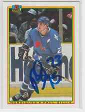 Autographed 90/91 Bowman Paul Gillis - Nordiques
