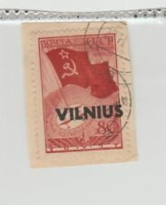 GERMAN WWII OCCUP Lithuania Vilnius 80K Mi #17 Fragment CANC VF 1941 DBL Signed