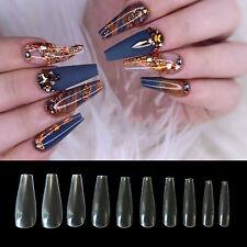 500Pcs Ballerina False Nail Tips Art Coffin Nails Acrylic Diy Decor Fake Clear