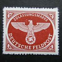 Germany Nazi 1942 1943 Stamp MNH Emblem Swastika Eagle Rouletted WWII 3rd Reich